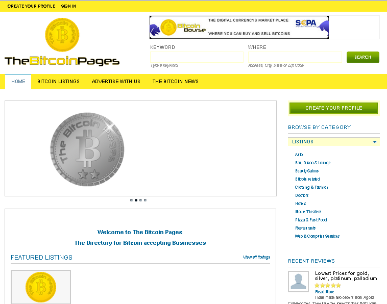 The Bitcoin Pages – Directory