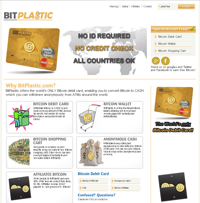 Bit Plastic - Bitcoin Debit Card