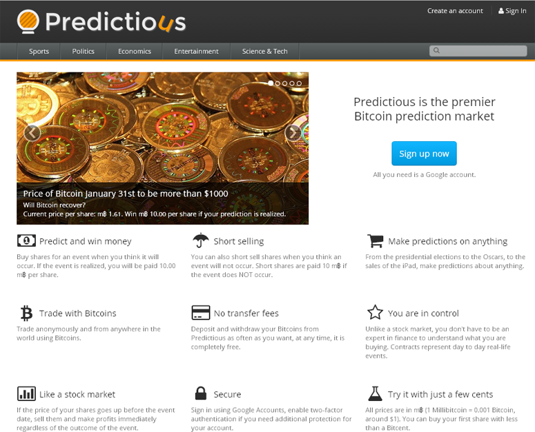 Predictious – Bet on Anything!