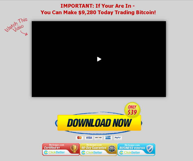 BTC Sniper – Bitcoin Trading Software