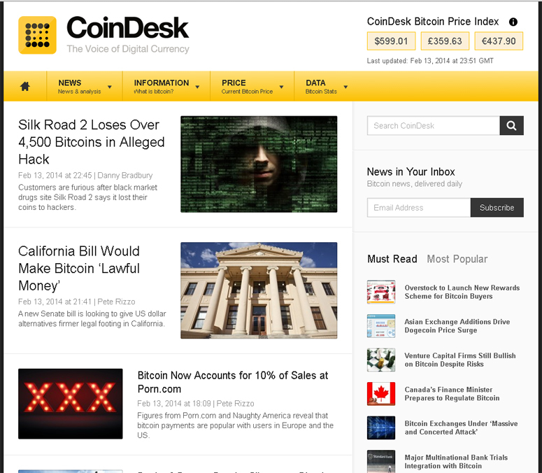 CoinDesk – The Voice of Digital Currency