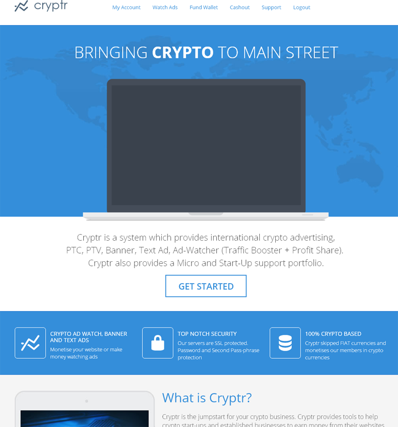 Cryptr – Crypto Advertising