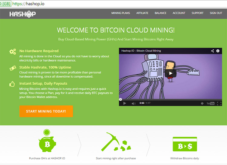 the best cloud mining site