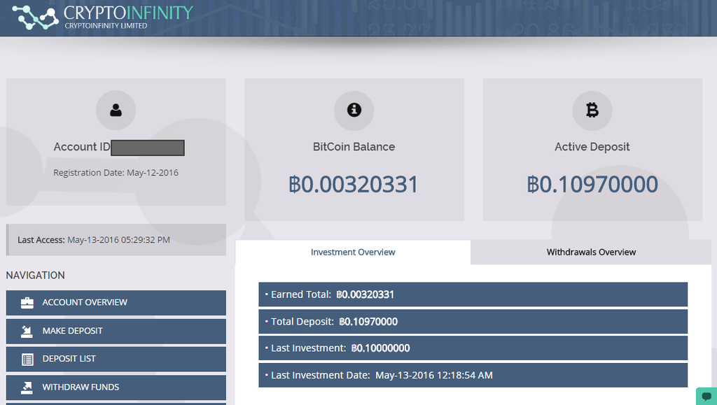 CryptoInfinity – Bitcoin Investment Fund – Review